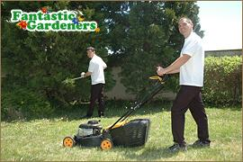 Lawn mowing team from Fantastic Gardeners